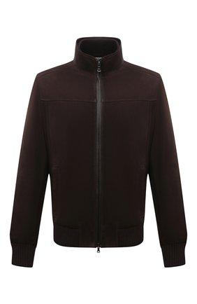 Мужской замшевый бомбер PAUL&SHARK коричневого цвета, арт. 11312490/FVW | Фото 1 (Рукава: Длинные; Длина (верхняя одежда): Короткие; Материал подклада: Хлопок; Кросс-КТ: Куртка; Принт: Без принта; Мужское Кросс-КТ: Кожа и замша; Стили: Классический)