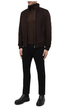 Мужской замшевый бомбер PAUL&SHARK коричневого цвета, арт. 11312490/FVW | Фото 2 (Рукава: Длинные; Длина (верхняя одежда): Короткие; Материал подклада: Хлопок; Кросс-КТ: Куртка; Принт: Без принта; Мужское Кросс-КТ: Кожа и замша; Стили: Классический)