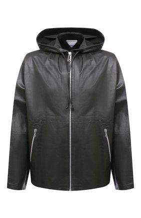 Мужская кожаная куртка BOTTEGA VENETA темно-зеленого цвета, арт. 679670/V1CY0 | Фото 1 (Рукава: Длинные; Длина (верхняя одежда): Короткие; Кросс-КТ: Куртка; Мужское Кросс-КТ: Кожа и замша; Стили: Минимализм)