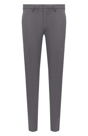 Мужские хлопковые брюки BOSS темно-серого цвета, арт. 50410310   Фото 1 (Материал внешний: Хлопок; Случай: Повседневный; Силуэт М (брюки): Чиносы; Стили: Кэжуэл)