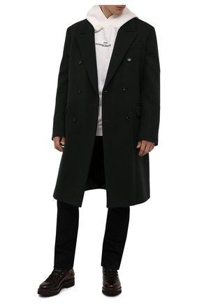 Мужские кожаные ботинки RALPH LAUREN темно-коричневого цвета, арт. 815811329 | Фото 2 (Подошва: Плоская; Материал внутренний: Натуральная кожа; Мужское Кросс-КТ: Ботинки-обувь, Хайкеры-обувь)