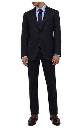 Мужские кожаные оксфорды SANTONI темно-коричневого цвета, арт. MCCG17916SM5EVRTT50 | Фото 2 (Материал внутренний: Натуральная кожа; Мужское Кросс-КТ: Броги-обувь; Стили: Классический)