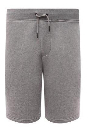 Мужские хлопковые шорты RALPH LAUREN светло-серого цвета, арт. 790774628   Фото 1 (Материал внешний: Хлопок; Кросс-КТ: Трикотаж; Принт: Без принта; Стили: Спорт-шик)