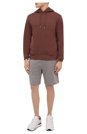 Мужские хлопковые шорты RALPH LAUREN светло-серого цвета, арт. 790774628   Фото 2 (Материал внешний: Хлопок; Кросс-КТ: Трикотаж; Принт: Без принта; Стили: Спорт-шик)