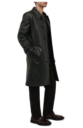 Мужские кожаные дерби BERLUTI темно-коричневого цвета, арт. S5592-001 | Фото 2 (Материал внутренний: Натуральная кожа; Стили: Классический)