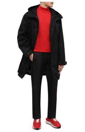 Мужские кроссовки LANVIN красного цвета, арт. FM-SKBRUC-MELT-A21   Фото 2 (Материал внешний: Текстиль; Материал внутренний: Натуральная кожа; Подошва: Массивная; Стили: Гранж)