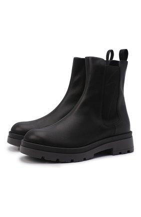 Мужские кожаные челси GIUSEPPE ZANOTTI DESIGN черного цвета, арт. IU10026/001 | Фото 1 (Подошва: Массивная; Материал внутренний: Натуральная кожа; Мужское Кросс-КТ: Сапоги-обувь, Челси-обувь)