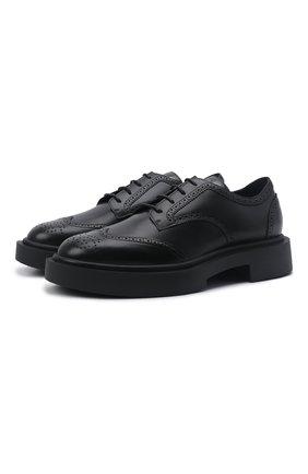 Мужские кожаные дерби harold GIUSEPPE ZANOTTI DESIGN черного цвета, арт. IU10044/001 | Фото 1 (Материал внутренний: Натуральная кожа; Мужское Кросс-КТ: Броги-обувь; Стили: Классический)
