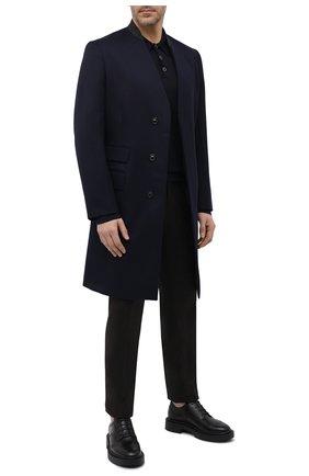 Мужские кожаные дерби harold GIUSEPPE ZANOTTI DESIGN черного цвета, арт. IU10044/001 | Фото 2 (Материал внутренний: Натуральная кожа; Мужское Кросс-КТ: Броги-обувь; Стили: Классический)