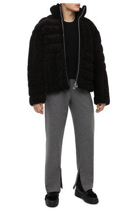 Мужские кожаные кеды talon winter GIUSEPPE ZANOTTI DESIGN черного цвета, арт. RU10052/004 | Фото 2 (Материал внешний: Натуральный мех; Материал утеплителя: Натуральный мех; Подошва: Массивная)