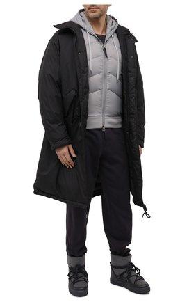 Мужские комбинированные сапоги INUIKII серого цвета, арт. 50202-52   Фото 2 (Материал внешний: Текстиль; Материал утеплителя: Натуральный мех; Мужское Кросс-КТ: Сапоги-обувь, зимние сапоги)