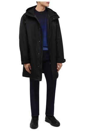 Мужские кожаные кеды TOD'S черного цвета, арт. XXM79B0DP31JUS | Фото 2 (Материал утеплителя: Натуральный мех; Подошва: Массивная)