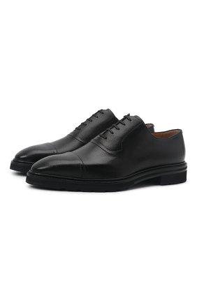 Мужские кожаные оксфорды midyal BALLY черного цвета, арт. MIDYAL/00 | Фото 1 (Материал внутренний: Натуральная кожа; Стили: Классический)