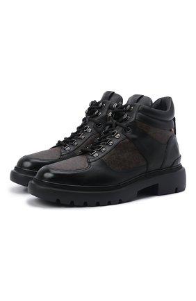 Мужские ботинки valensy BALLY черного цвета, арт. VALENSY/00 | Фото 1 (Материал внутренний: Натуральная кожа; Мужское Кросс-КТ: Ботинки-обувь, Хайкеры-обувь)