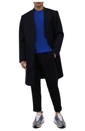 Мужские шерстяные брюки KITON темно-синего цвета, арт. UFP1LACK0159A   Фото 2 (Материал внешний: Шерсть; Случай: Повседневный; Стили: Кэжуэл)