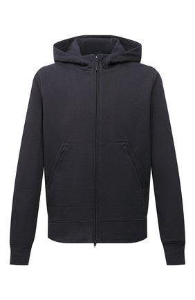 Мужской хлопковая толстовка Y-3 темно-серого цвета, арт. HF2148/M   Фото 1 (Длина (для топов): Стандартные; Материал внешний: Хлопок; Рукава: Длинные; Мужское Кросс-КТ: Толстовка-одежда; Стили: Спорт-шик)