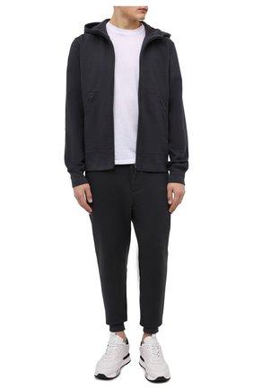 Мужской хлопковая толстовка Y-3 темно-серого цвета, арт. HF2148/M   Фото 2 (Длина (для топов): Стандартные; Материал внешний: Хлопок; Рукава: Длинные; Мужское Кросс-КТ: Толстовка-одежда; Стили: Спорт-шик)