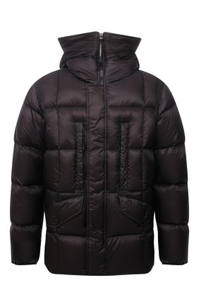 Мужская пуховая куртка C.P. COMPANY черного цвета, арт. 11CM0W012A-006099A   Фото 1 (Материал внешний: Синтетический материал; Материал подклада: Синтетический материал; Материал утеплителя: Пух и перо; Длина (верхняя одежда): Короткие; Мужское Кросс-КТ: пуховик-короткий; Кросс-КТ: Куртка; Рукава: Длинные; Стили: Гранж)