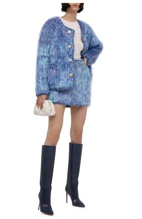 Женская юбка DOLCE & GABBANA разноцветного цвета, арт. FXE86T/JCM07 | Фото 2 (Материал внешний: Шерсть; Длина Ж (юбки, платья, шорты): Мини; Стили: Гламурный; Кросс-КТ: Трикотаж)