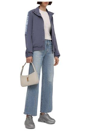 Женские кожаные кроссовки day master DOLCE & GABBANA серебряного цвета, арт. CK1791/AQ342 | Фото 2 (Материал внутренний: Натуральная кожа; Подошва: Платформа)