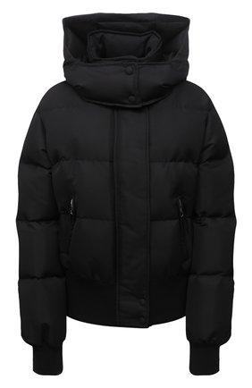 Женская утепленная куртка ALEXANDER MCQUEEN черного цвета, арт. 672752/QZAD1 | Фото 1 (Материал внешний: Синтетический материал; Материал подклада: Синтетический материал; Стили: Спорт-шик; Длина (верхняя одежда): Короткие; Рукава: Длинные; Кросс-КТ: Куртка)