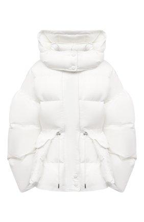 Женский утепленная куртка ALEXANDER MCQUEEN белого цвета, арт. 672915/QZAD1 | Фото 1 (Материал подклада: Синтетический материал; Рукава: Длинные; Длина (верхняя одежда): Короткие; Материал внешний: Синтетический материал; Стили: Спорт-шик; Кросс-КТ: Куртка)
