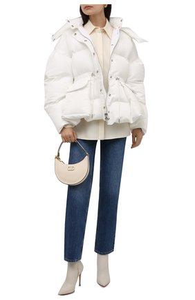 Женский утепленная куртка ALEXANDER MCQUEEN белого цвета, арт. 672915/QZAD1 | Фото 2 (Материал подклада: Синтетический материал; Рукава: Длинные; Длина (верхняя одежда): Короткие; Материал внешний: Синтетический материал; Стили: Спорт-шик; Кросс-КТ: Куртка)