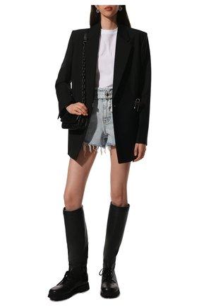 Женские кожаные сапоги JIL SANDER черного цвета, арт. JS37265A-14172   Фото 2 (Материал внутренний: Натуральная кожа; Подошва: Платформа; Высота голенища: Высокие; Каблук высота: Низкий; Каблук тип: Устойчивый)