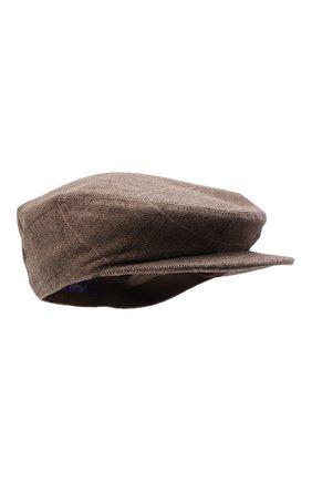 Женская кепка из шерсти и кашемира RALPH LAUREN бежевого цвета, арт. 434859332 | Фото 1 (Материал: Шерсть)