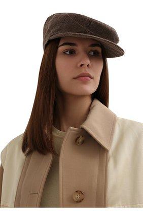 Женская кепка из шерсти и кашемира RALPH LAUREN бежевого цвета, арт. 434859332 | Фото 2 (Материал: Шерсть)