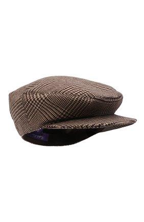 Женская шерстяная кепка RALPH LAUREN бежевого цвета, арт. 434857567 | Фото 1 (Материал: Шерсть)