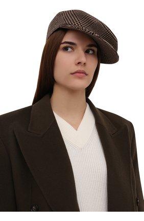 Женская шерстяная кепка RALPH LAUREN бежевого цвета, арт. 434857567 | Фото 2 (Материал: Шерсть)