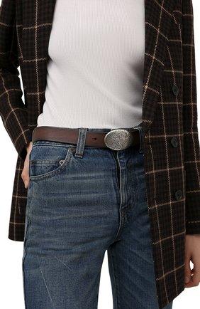 Женский кожаный ремень RALPH LAUREN темно-коричневого цвета, арт. 408858212 | Фото 2