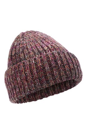 Женская шапка из кашемира и шерсти CHLOÉ розового цвета, арт. CHC21WMB03630   Фото 1 (Материал: Шерсть, Кашемир)