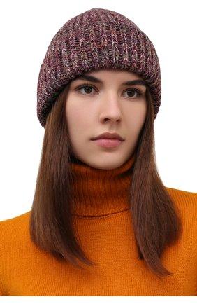 Женская шапка из кашемира и шерсти CHLOÉ розового цвета, арт. CHC21WMB03630   Фото 2 (Материал: Шерсть, Кашемир)