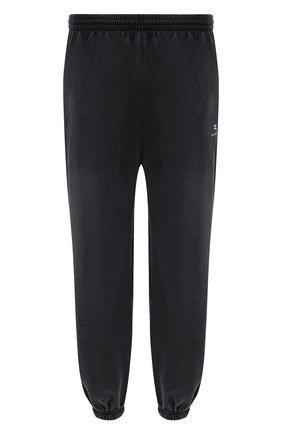 Мужские хлопковые джоггеры BALENCIAGA темно-серого цвета, арт. 675244/TLVA1   Фото 1 (Материал внешний: Хлопок; Длина (брюки, джинсы): Стандартные; Силуэт М (брюки): Джоггеры; Стили: Спорт-шик)