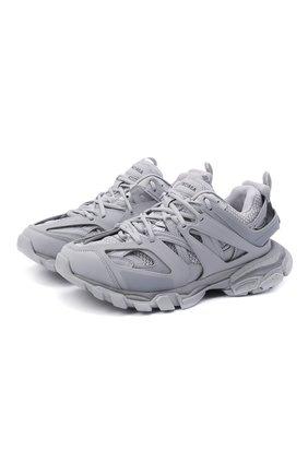 Мужские комбинированные кроссовки track BALENCIAGA светло-серого цвета, арт. 542023/W3FE3   Фото 1 (Подошва: Массивная; Материал внутренний: Текстиль; Материал внешний: Экокожа; Стили: Гранж)