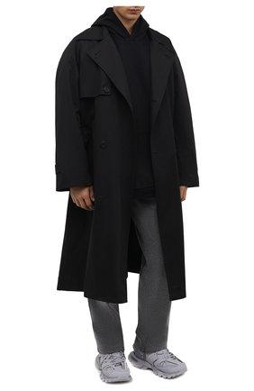 Мужские комбинированные кроссовки track BALENCIAGA светло-серого цвета, арт. 542023/W3FE3   Фото 2 (Подошва: Массивная; Материал внутренний: Текстиль; Материал внешний: Экокожа; Стили: Гранж)