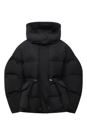Женский утепленная куртка ALEXANDER MCQUEEN черного цвета, арт. 672915/QZAD1 | Фото 1 (Материал подклада: Синтетический материал; Материал внешний: Синтетический материал; Кросс-КТ: Пуховик; Длина (верхняя одежда): Короткие; Рукава: Длинные; Стили: Спорт-шик)