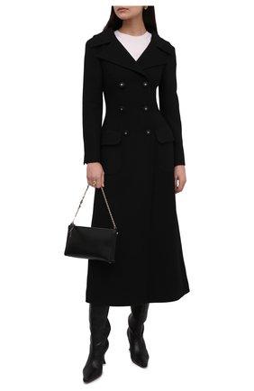 Женское шерстяное пальто DOLCE & GABBANA черного цвета, арт. F0AR3T/FU2NX | Фото 2 (Материал подклада: Синтетический материал; Длина (верхняя одежда): Длинные; Материал внешний: Шерсть; Рукава: Длинные; 1-2-бортные: Двубортные; Стили: Классический)
