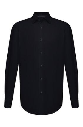 Мужская хлопковая сорочка BOSS черного цвета, арт. 50464549   Фото 1 (Материал внешний: Хлопок; Воротник: Кент; Случай: Формальный; Манжеты: На пуговицах; Рубашки М: Regular Fit; Рукава: Длинные; Длина (для топов): Стандартные; Стили: Классический; Принт: Однотонные)