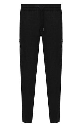 Мужские шерстяные брюки-карго BURBERRY темно-серого цвета, арт. 8044307   Фото 1 (Материал внешний: Шерсть; Длина (брюки, джинсы): Стандартные; Случай: Повседневный; Стили: Кэжуэл; Силуэт М (брюки): Карго)