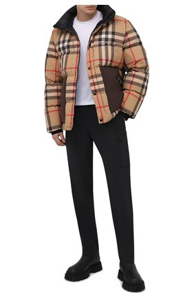 Мужские шерстяные брюки-карго BURBERRY темно-серого цвета, арт. 8044307   Фото 2 (Материал внешний: Шерсть; Длина (брюки, джинсы): Стандартные; Случай: Повседневный; Стили: Кэжуэл; Силуэт М (брюки): Карго)