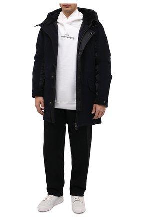 Мужская пуховая парка с меховой отделкой YVES SALOMON черного цвета, арт. 21WHM05296M14X   Фото 2 (Материал утеплителя: Пух и перо; Материал подклада: Синтетический материал; Рукава: Длинные; Длина (верхняя одежда): До середины бедра; Материал внешний: Шерсть; Мужское Кросс-КТ: пуховик-короткий; Кросс-КТ: Куртка; Стили: Кэжуэл)