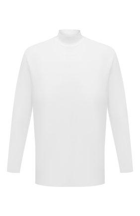 Мужская хлопковый лонгслив Y-3 белого цвета, арт. GK4496/M   Фото 1 (Материал внешний: Хлопок; Длина (для топов): Удлиненные; Рукава: Длинные; Принт: Без принта; Стили: Спорт-шик)