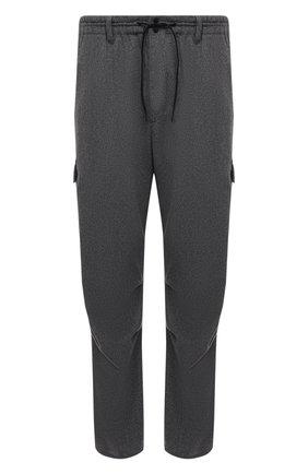 Мужские брюки-карго Y-3 серого цвета, арт. HB3392/M   Фото 1 (Материал внешний: Синтетический материал, Шерсть; Длина (брюки, джинсы): Стандартные; Случай: Повседневный; Стили: Спорт-шик; Силуэт М (брюки): Карго)