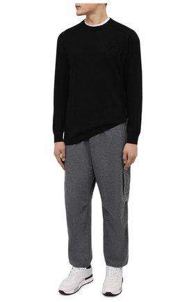 Мужские брюки-карго Y-3 серого цвета, арт. HB3392/M   Фото 2 (Материал внешний: Синтетический материал, Шерсть; Длина (брюки, джинсы): Стандартные; Случай: Повседневный; Стили: Спорт-шик; Силуэт М (брюки): Карго)