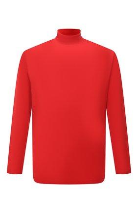 Мужская хлопковый лонгслив Y-3 красного цвета, арт. HB3408/M   Фото 1 (Рукава: Длинные; Материал внешний: Хлопок; Длина (для топов): Удлиненные; Принт: Без принта; Стили: Кэжуэл)