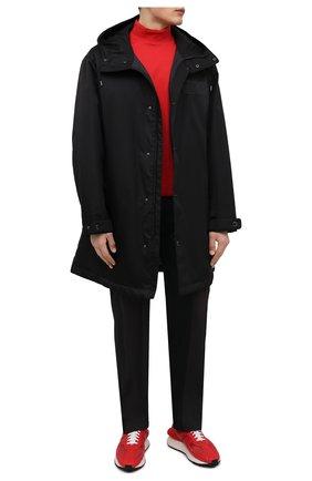 Мужская хлопковый лонгслив Y-3 красного цвета, арт. HB3408/M   Фото 2 (Рукава: Длинные; Материал внешний: Хлопок; Длина (для топов): Удлиненные; Принт: Без принта; Стили: Кэжуэл)