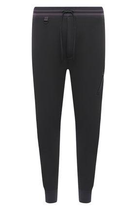 Мужские хлопковые джоггеры Y-3 темно-серого цвета, арт. HB3498/M   Фото 1 (Материал внешний: Хлопок; Длина (брюки, джинсы): Стандартные; Мужское Кросс-КТ: Брюки-трикотаж; Стили: Спорт-шик; Силуэт М (брюки): Джоггеры)